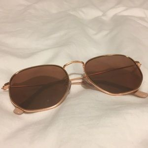 Urban outfitters rose gold sunglasses